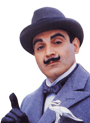 David suchet portraying poirot in the series